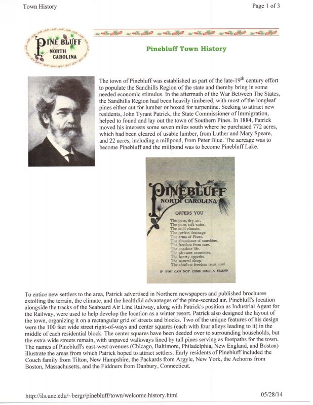 History of Pine Bluff (page 1)